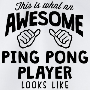 awesome ping pong player looks like - Drawstring Bag