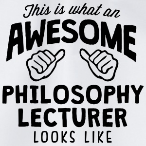 awesome philosophy lecturer looks like - Drawstring Bag