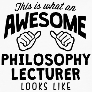 awesome philosophy lecturer looks like - Men's Premium Longsleeve Shirt