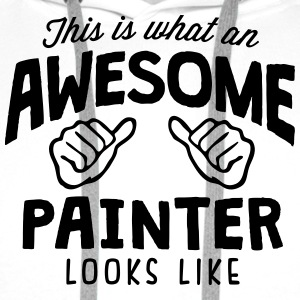 awesome painter looks like - Men's Premium Hoodie