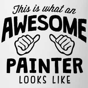 awesome painter looks like - Mug