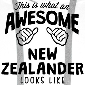 awesome new zealander looks like - Men's Premium Hoodie