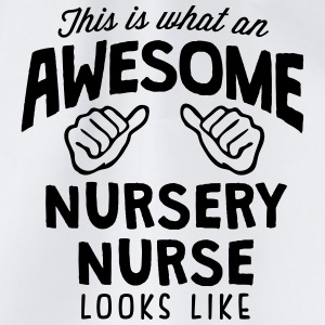 awesome nursery nurse looks like - Drawstring Bag