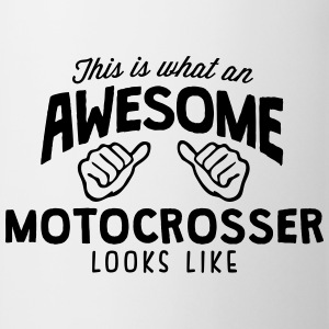 awesome motocrosser looks like - Mug