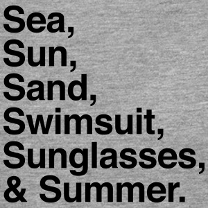Sea Sun Sand and Summer T-shirts - Långärmad premium-T-shirt herr