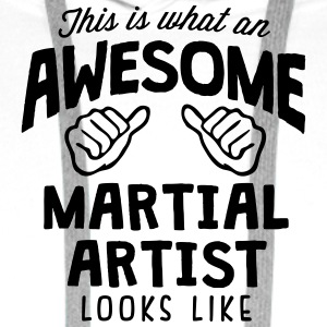 awesome martial artist looks like - Men's Premium Hoodie