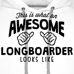 awesome longboarder looks like - Men's Premium Hoodie