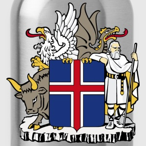 Coat of Arms Republic of Iceland - Water Bottle