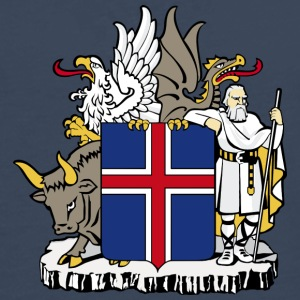 Coat of Arms Republic of Iceland - Camiseta de manga larga premium hombre