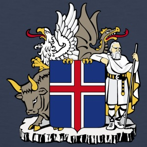 Coat of Arms Republic of Iceland - Men's Premium Tank Top