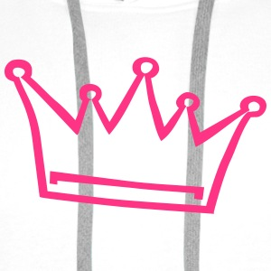 crown, princess, prince Baby Bodysuits - Men's Premium Hoodie