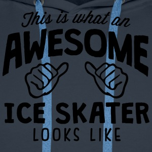 awesome ice skater looks like - Men's Premium Hoodie