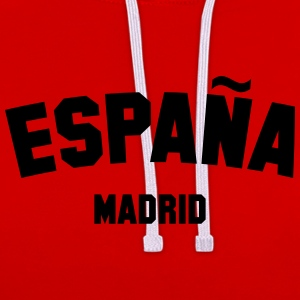 SPAIN MADRID T-Shirts - Contrast Colour Hoodie