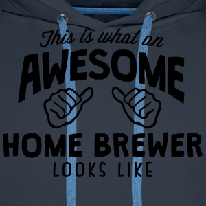 awesome home brewer looks like - Men's Premium Hoodie