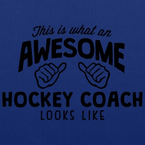 awesome hockey coach looks like - Tote Bag