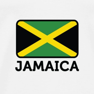 National Flag of Jamaica T-shirts - Herre premium T-shirt