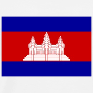Nationale flag i Cambodja T-shirts - Herre premium T-shirt