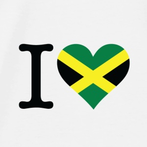 I Love Jamaica Accessories - Herre premium T-shirt