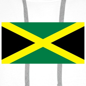 National Flag of Jamaica Tilbehør - Premium hettegenser for menn