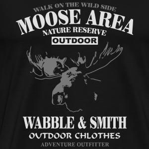 Moose Nature Reserve Hoodies & Sweatshirts - Men's Premium T-Shirt