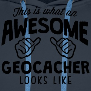 awesome geocacher looks like - Men's Premium Hoodie