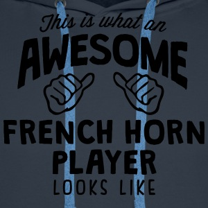 awesome french horn player looks like - Men's Premium Hoodie