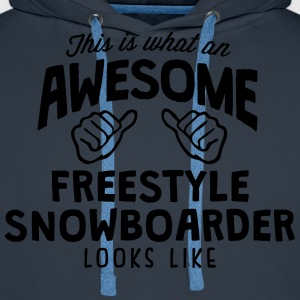 awesome freestyle snowboarder looks like - Men's Premium Hoodie