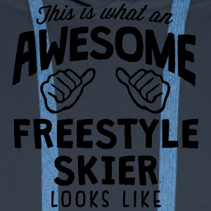 awesome freestyle skier looks like - Men's Premium Hoodie