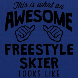 awesome freestyle skier looks like - Tote Bag
