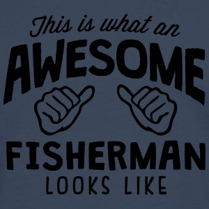 awesome fisherman looks like - Men's Premium Longsleeve Shirt