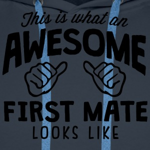 awesome first mate looks like - Men's Premium Hoodie
