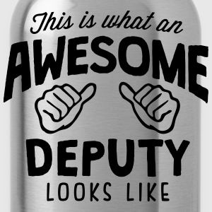 awesome deputy looks like - Water Bottle