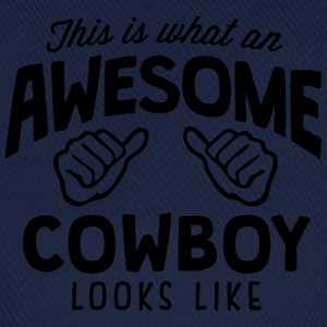 awesome cowboy looks like - Baseball Cap