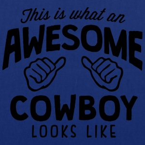 awesome cowboy looks like - Tote Bag