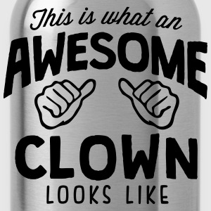 awesome clown looks like - Water Bottle