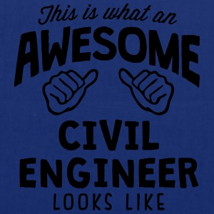 awesome civil engineer looks like - Tote Bag