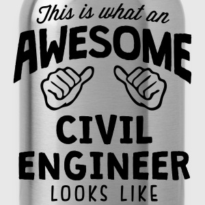 awesome civil engineer looks like - Water Bottle