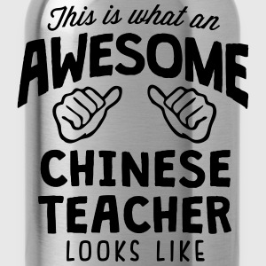 awesome chinese teacher looks like - Water Bottle