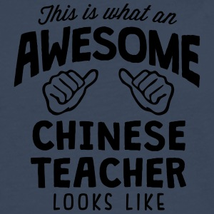 awesome chinese teacher looks like - Men's Premium Longsleeve Shirt
