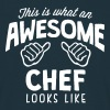 awesome chef looks like - Men's T-Shirt
