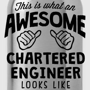 awesome chartered engineer looks like - Water Bottle