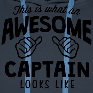 awesome captain looks like - Men's Premium Hoodie