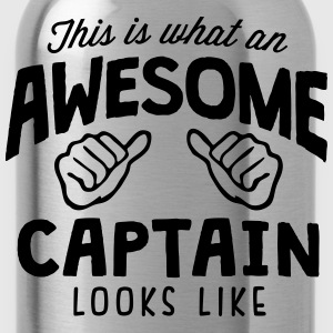 awesome captain looks like - Water Bottle