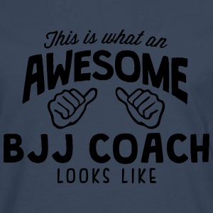 awesome bjj coach looks like - Men's Premium Longsleeve Shirt