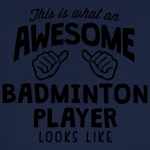 awesome badminton player looks like - Baseball Cap