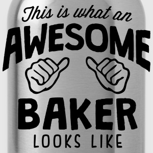 awesome baker looks like - Water Bottle