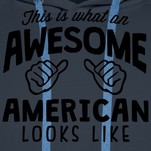 awesome american looks like - Men's Premium Hoodie