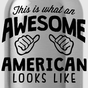 awesome american looks like - Water Bottle