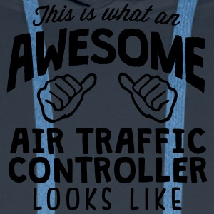 awesome air traffic controller looks lik - Men's Premium Hoodie