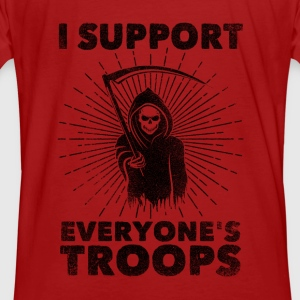 I Support Everyone's Troops (Political /Statement) Felpe - T-shirt ecologica da uomo
